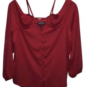 Express red off shoulder top *NWT*
